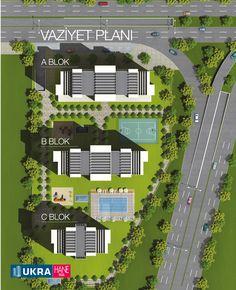Hane Plus vaziyet planı - www.haneplus.com.tr The Plan, How To Plan, Landscape Plans, Landscape Architecture, Landscape Design, Location Plan, Residential Complex, Site Plans, Farmhouse Plans