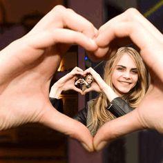Cara's hand heart gif by Sketchaganda Cara Delevingne Pop art