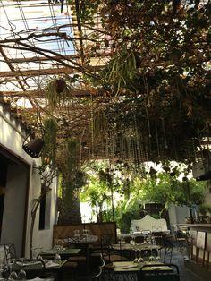 Beautiful restaurant setting in Ibiza old town