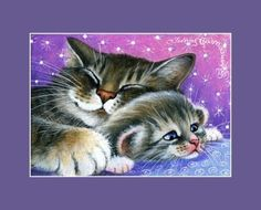 Tabby-Cat-ACEO-Print-Tired-At-The-End-Of-The-Day-By-I-Garmashova