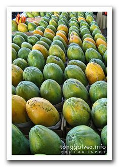 papayas at the market, Sao Paulo, Brazil