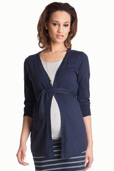 Seraphine Jasmine Cotton Maternity Cardigan Sweater | Maternity Clothes   www.duematernity.com