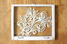 TULIP ‹ Emmy Star Brown - hand-painting on salvaged window
