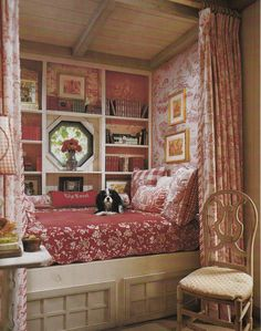 cozy reading nook - French country design by Charles Faudree | Inviting Home Inspired