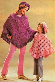Womens CROCHET PATTERN pdf womens crochet poncho girls crochet poncho (5-14 yrs)…