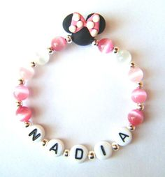 nana- NEW Child/Baby Handmade FIMO Personalized Minnie Mouse by Kell22j, $3.30