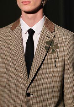 Cool clover design! Valentino menswear f/w 2015 ZsaZsa Bellagio – Like No Other: guys
