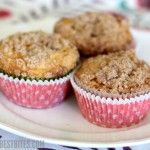 Apple Cinnamon Coffee Cake Muffins.  These are delicious, even without the streusel topping.