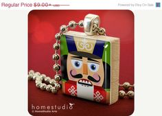 ON SALE - Nutcracker : pendant jewelry from Scrabble tile piece. Scrabble necklace. Scrabble pendant. HomeStudio gift present.