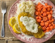 Pan Fried Fish Fillets with Lemon Dill Sauce - Little House on the Prairie Main Course Dishes, Main Dishes, Lemon Dill Sauce, Pan Fried Fish, Good Food, Fun Food, Great Recipes, Food To Make, Fries