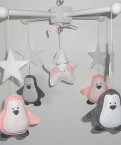 Look at this LincKids Gray & Pink Penguins Mobile on #zulily today!