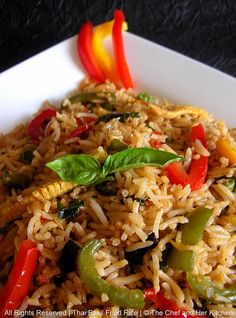 THE CHEF and HER KITCHEN: Spicy Thai Basil Fried Rice