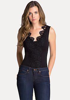 Lace & Jersey Bodysuit