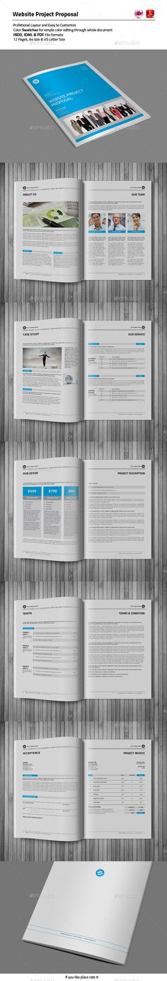 12 Pages Proposal Template | #proposal #proposaltemplate | Download: http://graphicriver.net/item/12-pages-proposal-template/10200156?ref=ksioks