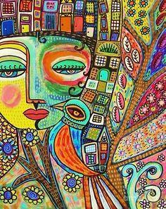 Blessing Goddess Painting - House Blessing Goddess Fine Art Print