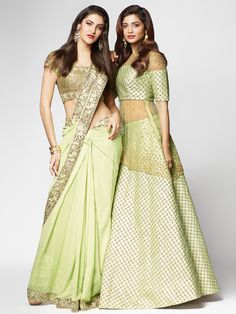 Shop Shop Lime green Cape Style Lehenga Choli by G3+ Video Shopping online from G3fashion India. Brand - G3, Product code - G3VS117, Price - 65450, Color - Green, Fabric - Net, Silk,