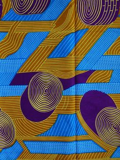 Blue African print fabric by yard/ Ankara fabric/ African fashion fabric…