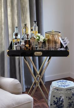 DIY Bar Cart via @HonestlyYUM
