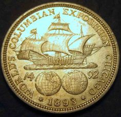 1893 Columbian Exposition Half Dollar Chicago Worlds Fair Very Nice Coins Make…