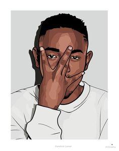 Kendrick Lamar iPhone Plus Case Unique Drawings, Art Drawings, Kendrick Lamar Art, King Kendrick, Chris Brown Art, Dope Cartoon Art, Rapper Art, Rap Wallpaper, Hip Hop Art