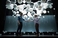 Images like the myriad white balloons in Tom Scutt's design for Constellations have left their mark on audiences. Here, he talks through six shows from his career