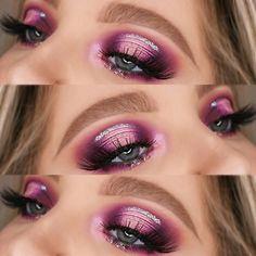 Blood Sugar Palette Looks Step By Step Jeffree Star, Mascara, Eyeliner, Glitter Eyebrows, Glitter Hair, Beauty Makeup, Eye Makeup, Makeup Style, Beauty Tips
