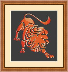 Check out this item in my Etsy shop https://www.etsy.com/listing/567486423/zodiac-lion-lion-fiery-lion-leo-cross