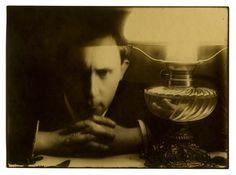Self-portrait, with Lamp - Ignacy Stanislaw Witkiewicz, 1913