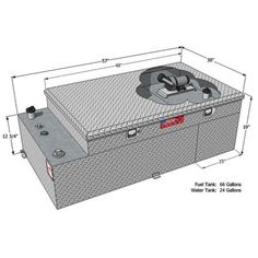 Product: RDS Aluminum Transfer Water Plus Fuel Tank Toolbox Combo — Fuel, Water, Rectangular, Diamond Plate, Model# 73043 Truck Accesories, Toolbox, Plates, Diamond, Model, Tool Box, Licence Plates, Dishes, Griddles