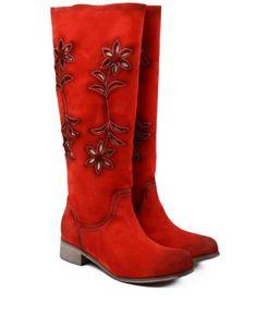 Imagini pentru cizme elegante fara toc cu motive florale