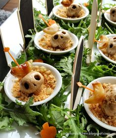 Death Cap Kabobs- Halloween Food, Appetizers