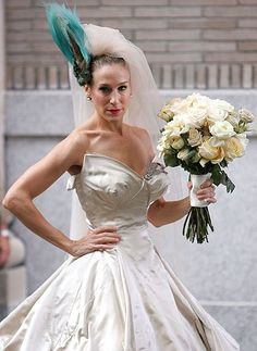 OK, I know it was on ages ago, but I couldn't resist posting this picture of Carrie from 'Sex and the City' in a Vivienne Westwood gown.