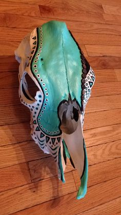 Hand painted cow skull by Lindseygerstenkorn on Etsy