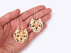 tiger earrings by Togetherness Design.
