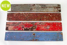 "Cahaya Deco Planks   Raw fishing boat wood planks   W6"" x H39.5"" x THK1"" #teak #reclaimed #wood #decor #rustic #colour"