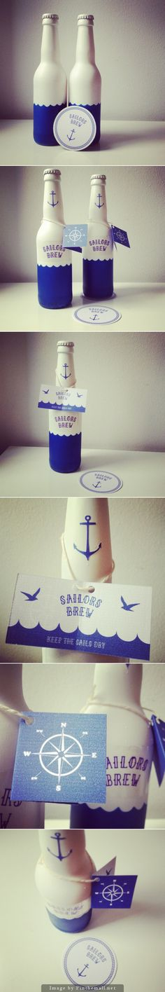 Closeup of Sailors Brew #beer #packaging curated by Packaging Diva PD - created via http://www.packageinspiration.com/beer-label-sailors-brew.html/