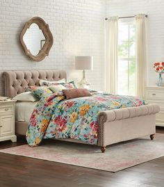 Bring on spring! Get ready for warmer temps, sunshine and pretty blooms with our new Garden Bloom Bedding Collection. A great choice for a spring refresh. Not to mention, you can keep it year round if you want to have that spring feeling indoors. This 200 thread count cotton bedding is machine washable. Features a duvet and shams. Available at Home Decorators Collection.