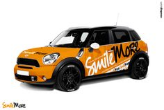 Mini Cooper Countryman | Car Wrap Design by Essellegi. Car Signs, Car Signage, Car Signwriting, Car Wrap Designer, Car Wrap Design, Car Graphic by Essellegi.