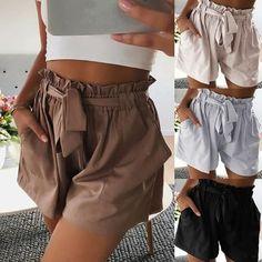 Mode Sommer Frauen hohe Taille lässige Floral Print Strand Quaste Hosen Shorts