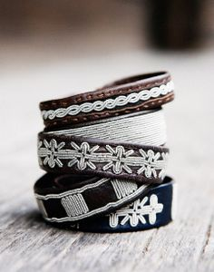 Sámi reindeer leather bracelets