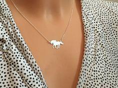 Naszyjnik srebrny konik  - LuxoroDesign - Naszyjniki srebrne