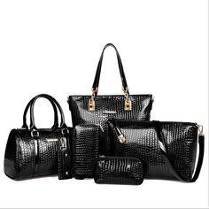 Set of 6 pcs Crocodile Handbags