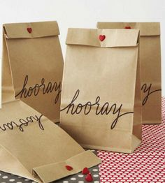 brown paper bag giftwrap and packaging ideas