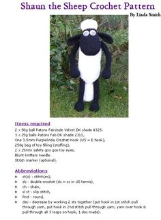 FREE PATTERN Shaun the Sheep Crochet Pattern