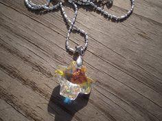 Swarovski Crystal Cross Pendant Necklace by tlw1212 on Etsy