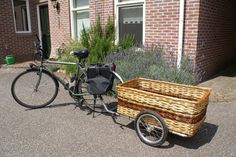 Bicycle Trailer with custom made woven basket