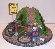 Over The Hill Bike Wreck on Cake Central
