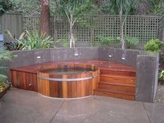 Backyard Patio Ideas With Hot Tub Landscaping Gardening Ideas Backyard Jacuzzi Ideas Tiny 26 On Exterior Hot Tub Deck, Hot Tub Backyard, Hot Tub Garden, Backyard Patio, Backyard Ideas, Backyard Designs, Garden Pond, Pool Ideas, Pool Designs