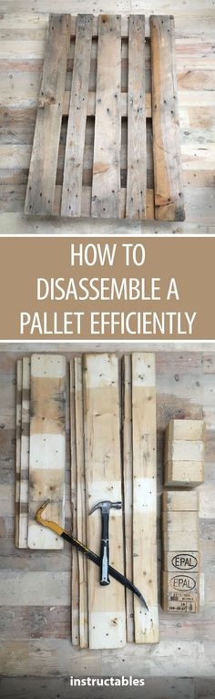How to Disassemble a Pallet Efficiently #woodworking #upcycle #reuse