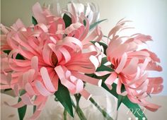 How To Make Brightly Coloured Paper Chrysanthemum Flowers